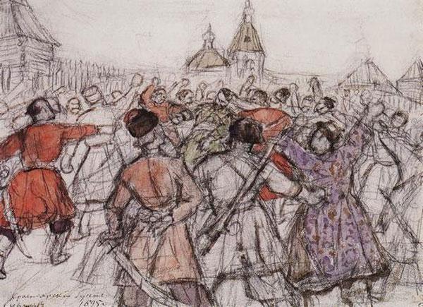 Krasnoyarsk rebellion, 1902 - Vasily Surikov