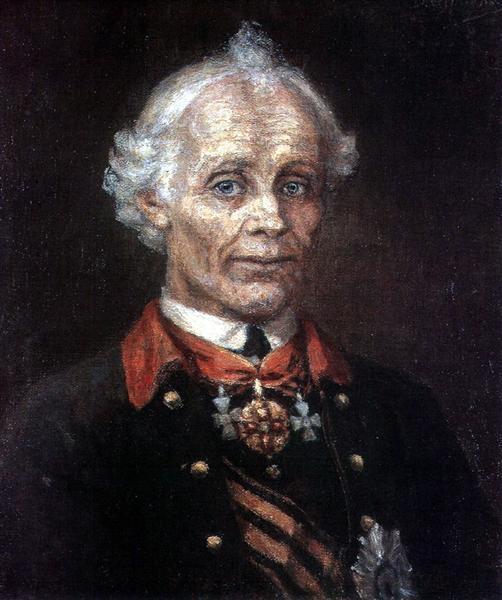 Portrait of Alexander Suvorov, 1907 - Vasily Surikov