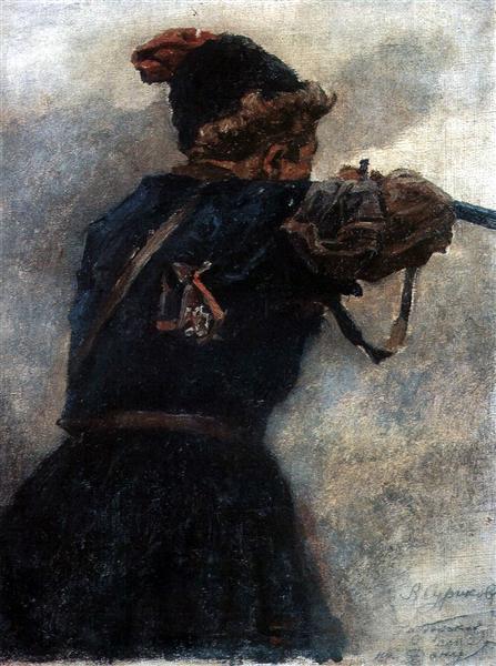 Shooting cossack, c.1895 - Vasily Surikov