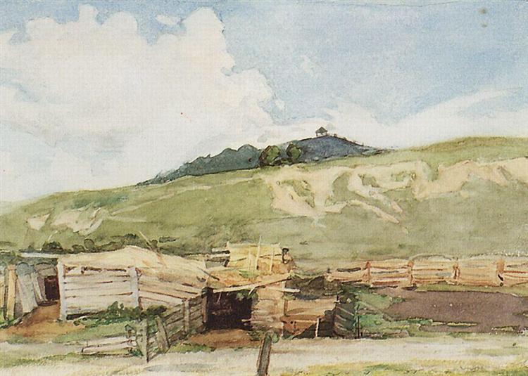 Siberian landscape. Torgoshyno., 1873 - Vasily Surikov