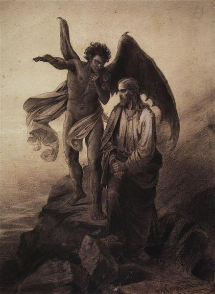 Temptation of Christ, 1872 - Vasily Surikov