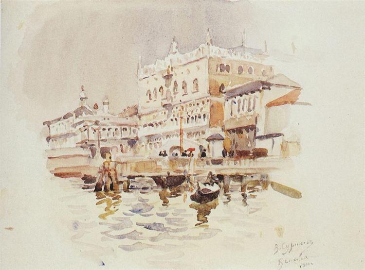 Venice. Doge's Palace., 1900 - Vasily Surikov