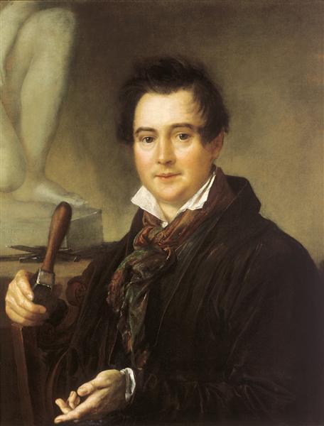 Portrait of Ivan Vitali, 1839 - Vasily Tropinin