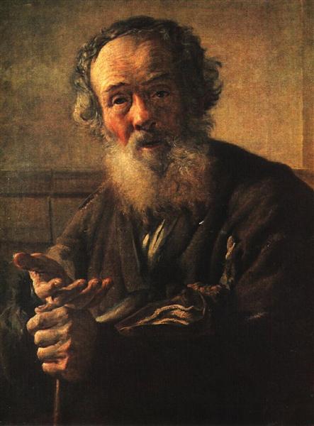 Old beggar, 1823 - Vasily Tropinin