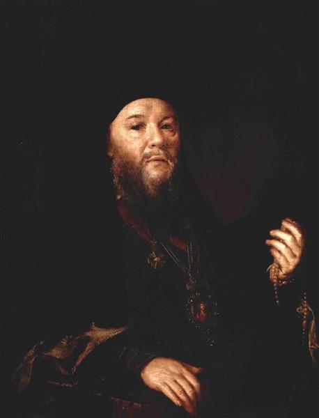 Portrait de l`Archimandrite Théophane, 1837 - Vasily Tropinin