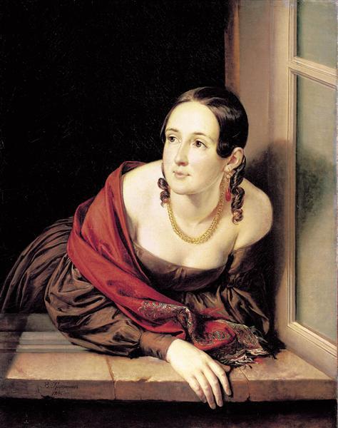 Woman at the window, 1841 - Vasily Tropinin