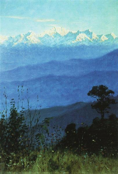 Himalayas in the evening, 1875 - Vasily Vereshchagin