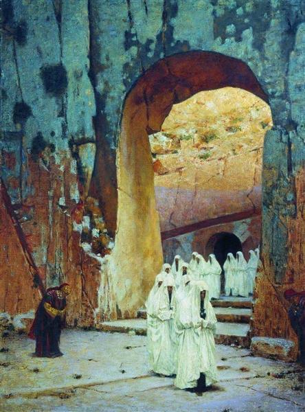 In Jerusalem. Royal tombs, 1884 - 1885 - Vasily Vereshchagin