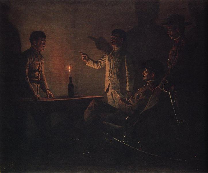 Interrogation of the renegade, c.1901 - Vasily Vereshchagin