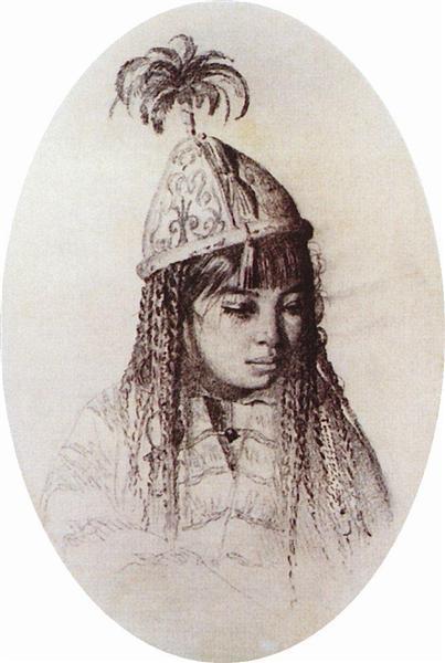 Kyrgyz girl - Vasily Vereshchagin