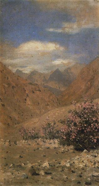 Roses in Ladakh, 1874 - 1876 - Vasily Vereshchagin