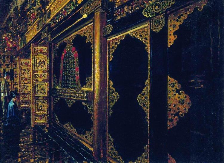 Temple in Tokyo, 1871 - 1873 - Vasily Vereshchagin