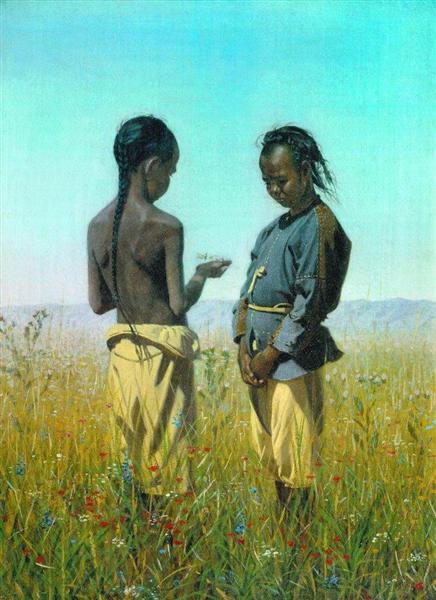 The children of the tribe Solonov, 1869 - 1870 - Vasily Vereshchagin