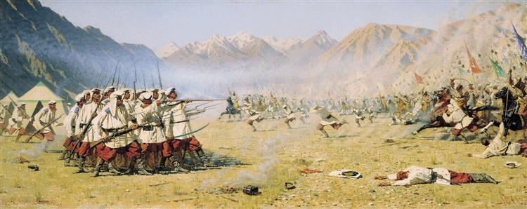 Unawares attack, 1871 - Vasily Vereshchagin