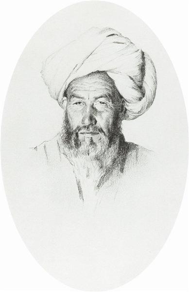 Uzbek, the foreman (elder) village Hodzhagent, 1868 - Vasily Vereshchagin
