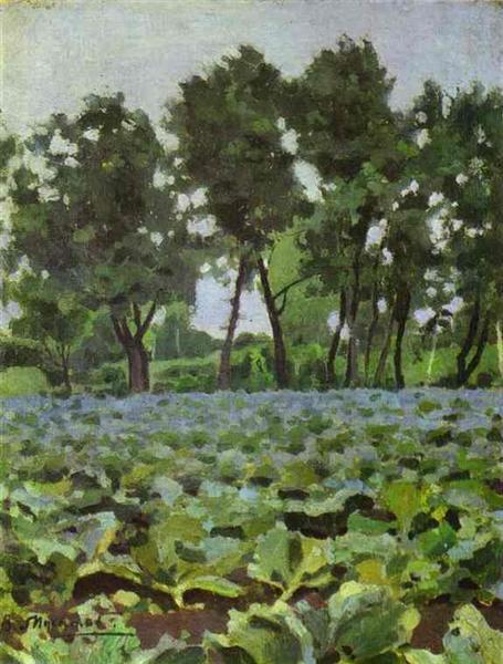 Cabbage Field with Willows, c.1893 - Victor Borisov-Musatov