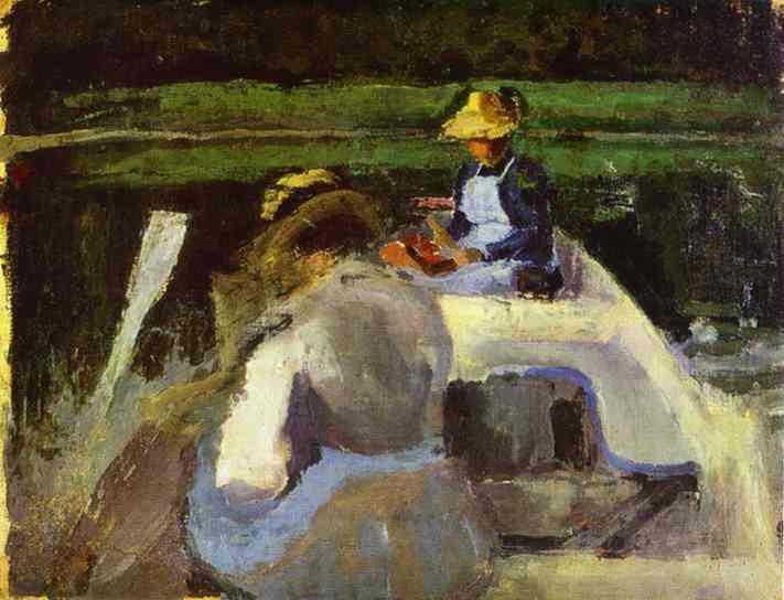 In a Boat, c.1893 - Victor Borisov-Musatov