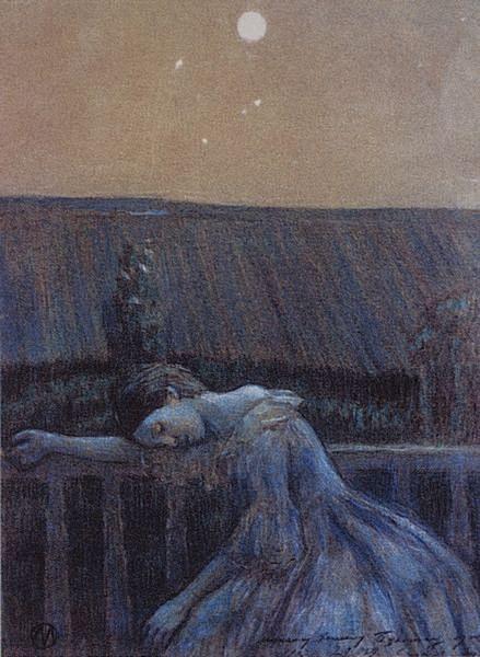 On a Balcony, 1899 - Victor Borisov-Musatov