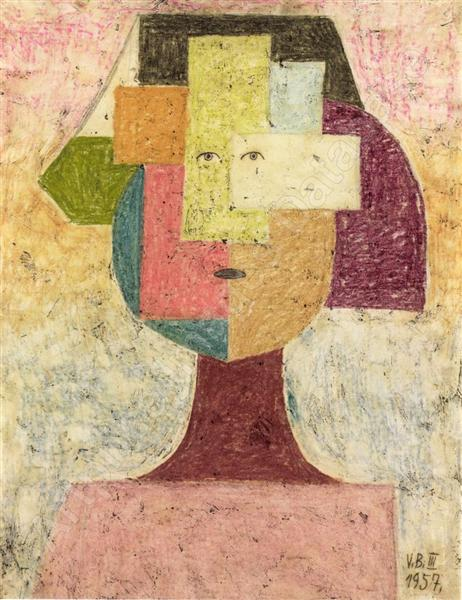 The carpathian woman 1957 victor brauner - Victor brauner loup table ...