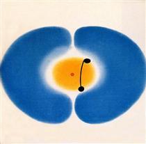 Blue Mandala - Victor Pasmore