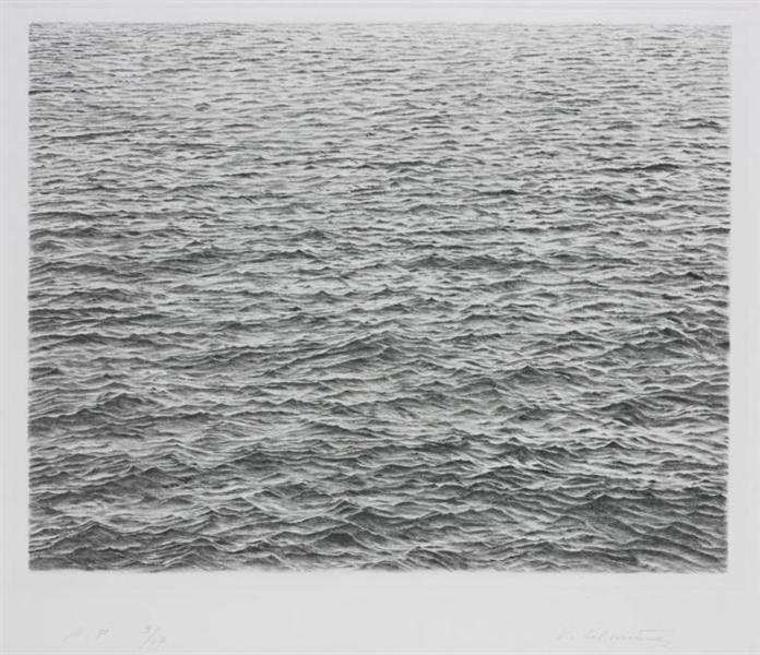 Drypoint - Ocean Surface, 1983 - Vija Celmins