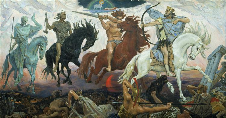 Four Horsemen of Apocalypse, 1887 - Viktor Vasnetsov