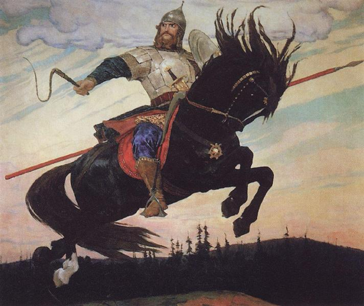 Knightly Galloping, 1914 - Wiktor Michailowitsch Wasnezow