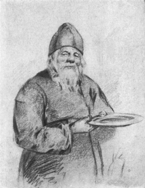 Monk collector - Viktor Vasnetsov