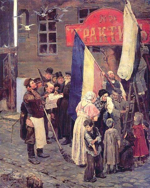 News of the capture of Kars, 1878 - Viktor Vasnetsov