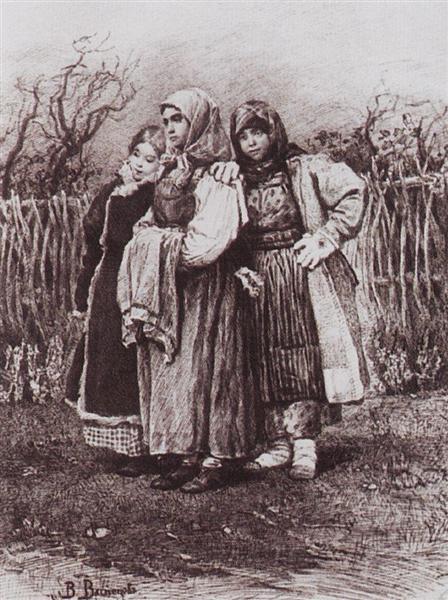 Playmates, 1878 - Viktor Vasnetsov