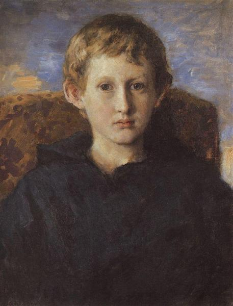 Portrait of Boris Vasnetsov, son of the artist, 1889 - Viktor Vasnetsov