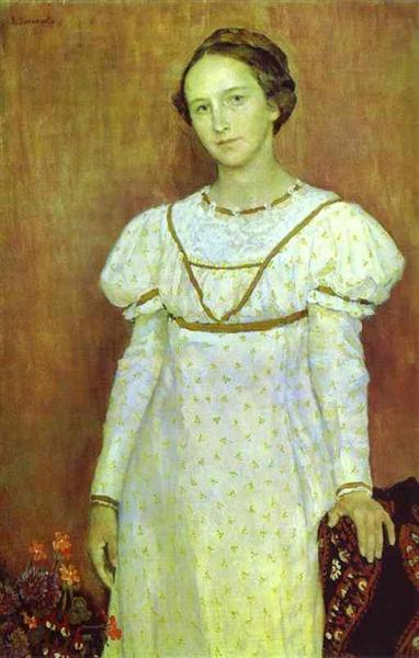 Portrait of Olga Poletayeva, 1912 - Wiktor Michailowitsch Wasnezow
