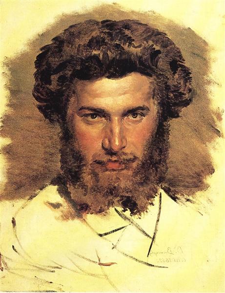 Portrait of the Artist Arkhip Kuinji, 1869 - Viktor Vasnetsov