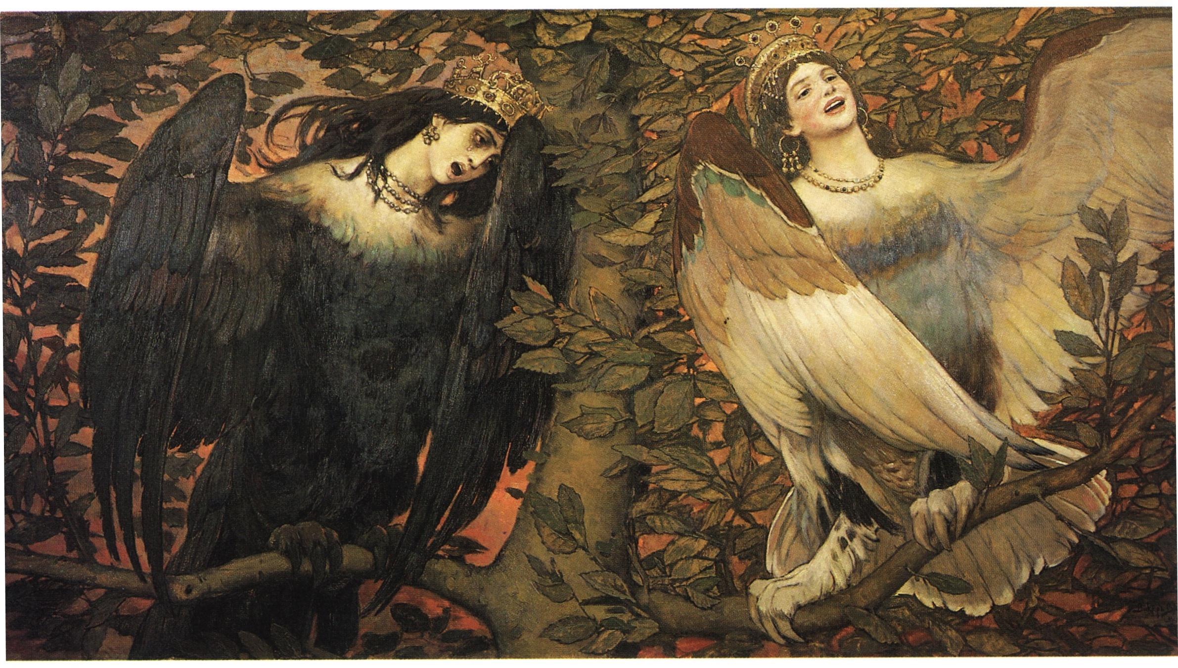 Viktor Vasnecov - Page 2 Sirin-and-alkonost-the-birds-of-joy-and-sorrow-1896