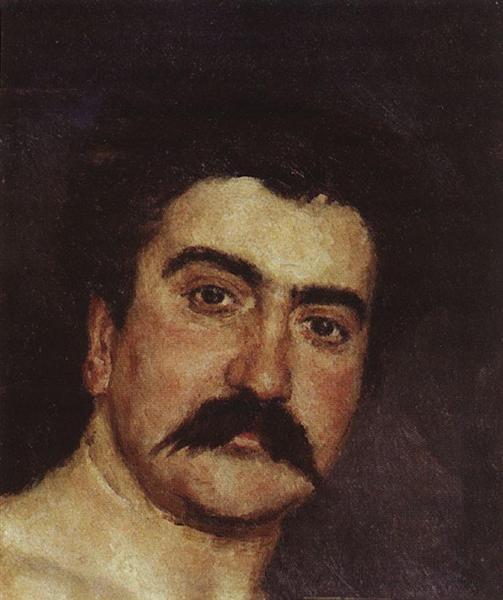 Wrestler`s head. Portrait of wrestler N.D. Kuznetsov - Viktor Vasnetsov