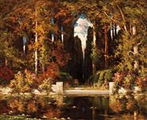 An Italianate Landscape - Vilhelms Purvitis