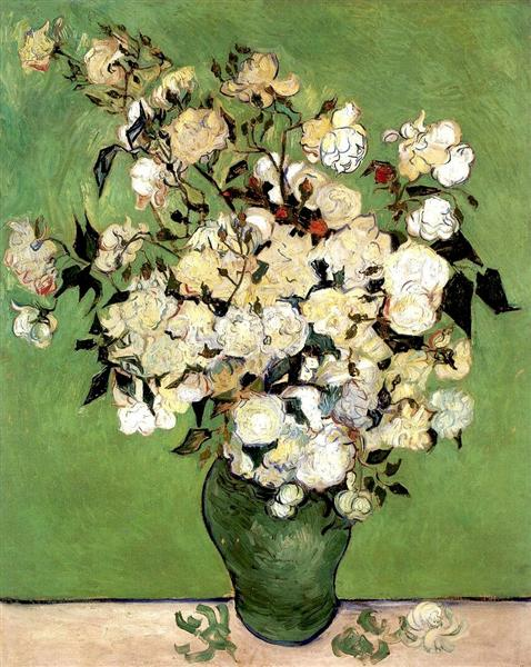 A Vase Of Roses 1890 Vincent Van Gogh Wikiart