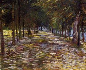 Avenida en el Parque de Voyer Argenson en Asnieres, Vincent van Gogh