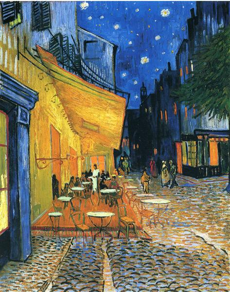 Cafe Terrace, Place du Forum, Arles, 1888 - Vincent van Gogh