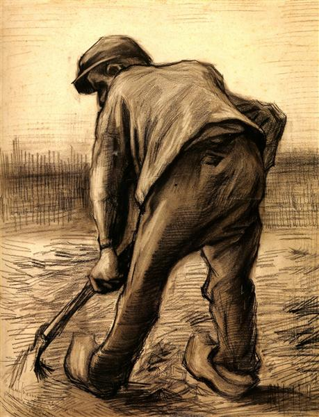 Digger in a Potato Field: February, 1885 - Vincent van Gogh