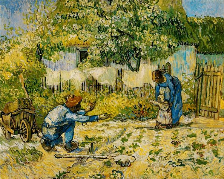 First Steps (after Millet), 1890 - Vincent van Gogh