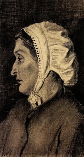 Cabeza de una mujer, Vincent van Gogh