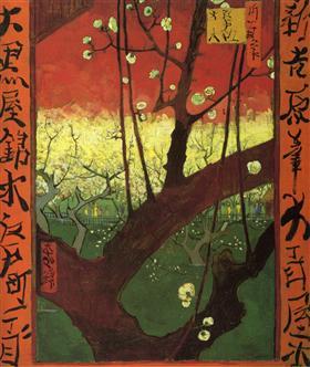 Japonaiserie (después de Hiroshige), Vincent van Gogh