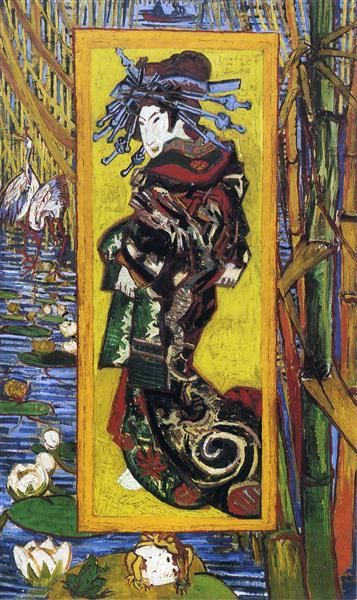Japonaiserie Oiran (after Kesai Eisen), 1887 - Vincent van Gogh