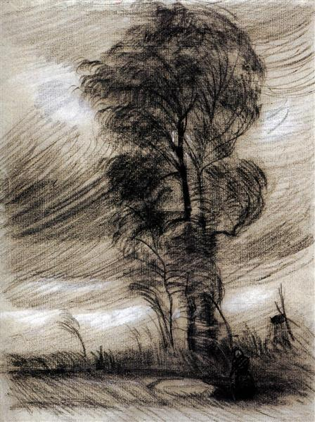 Landscape in Stormy Weather, 1885 - Vincent van Gogh