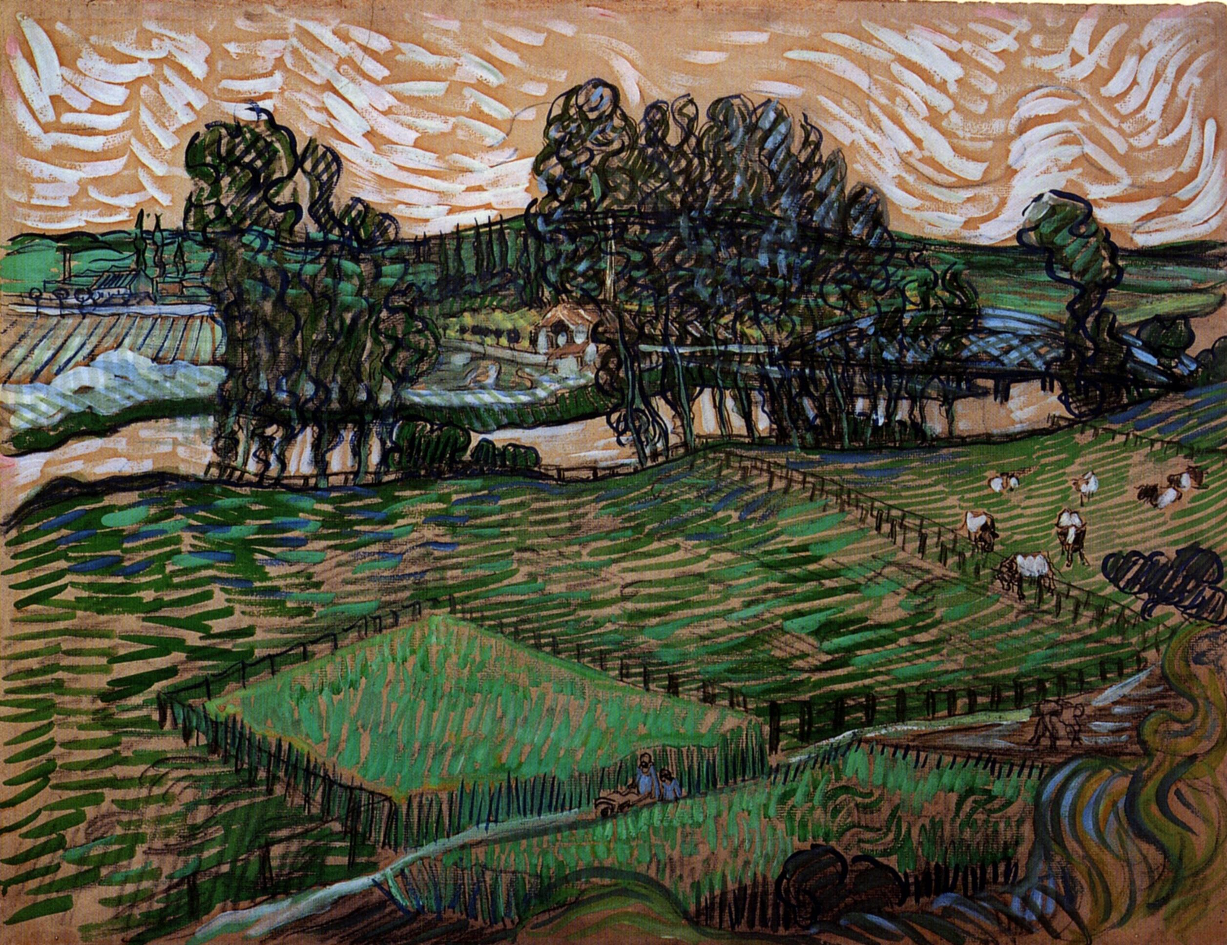 Landscape with Bridge across the Oise, 1890 - Vincent van Gogh ...