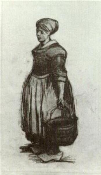 Peasant Woman with a Bucket, 1885 - Vincent van Gogh
