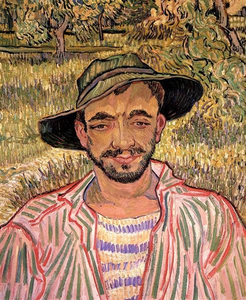 Portrait of a Young Peasant, 1889 - Vincent van Gogh
