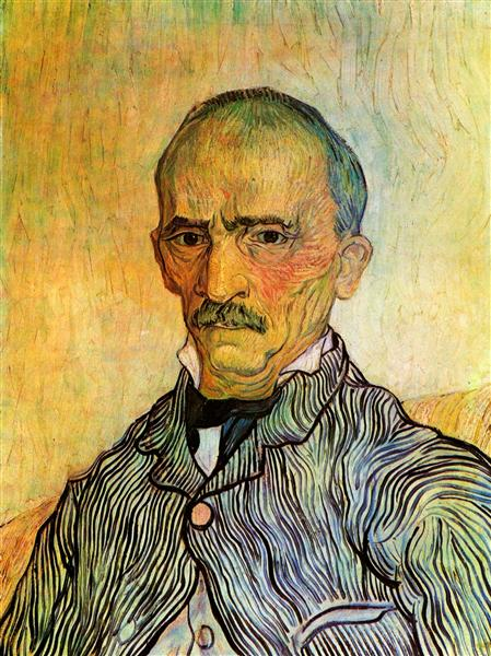 Portrait of Trabuc, an Attendant at Saint-Paul Hospital, 1889 - Vincent van Gogh