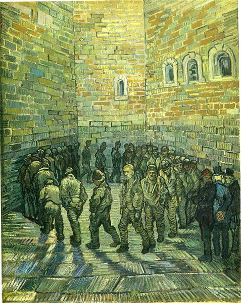 Prisoners Exercising (Prisoners Round), 1890 - Vincent van Gogh